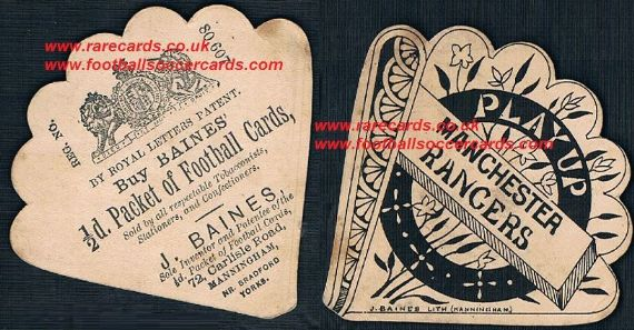 1890s Manchester Rangers FC Baines fan card